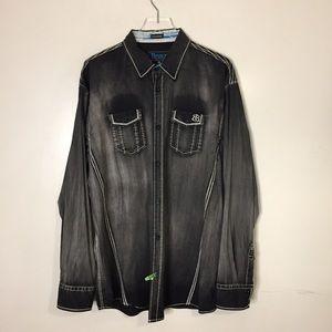 Roar Signature Men's Black faded Shirt. 3XL